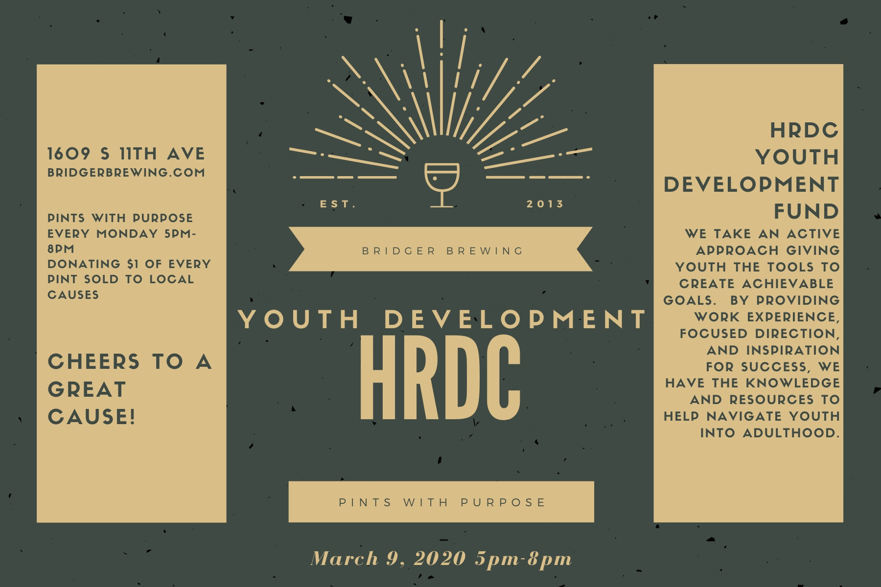 Pints with Purpose · HRDC Youth Development