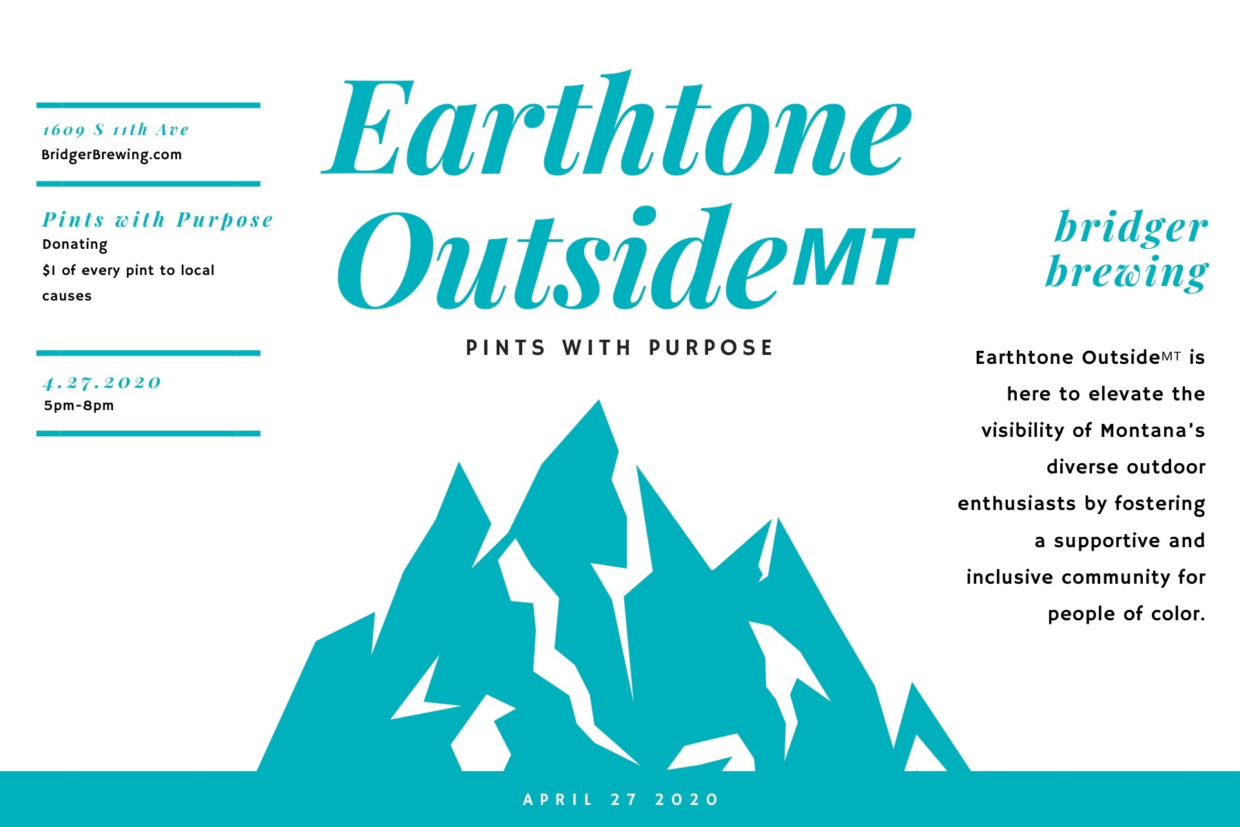 Pints with Purpose · Earthtone Outside