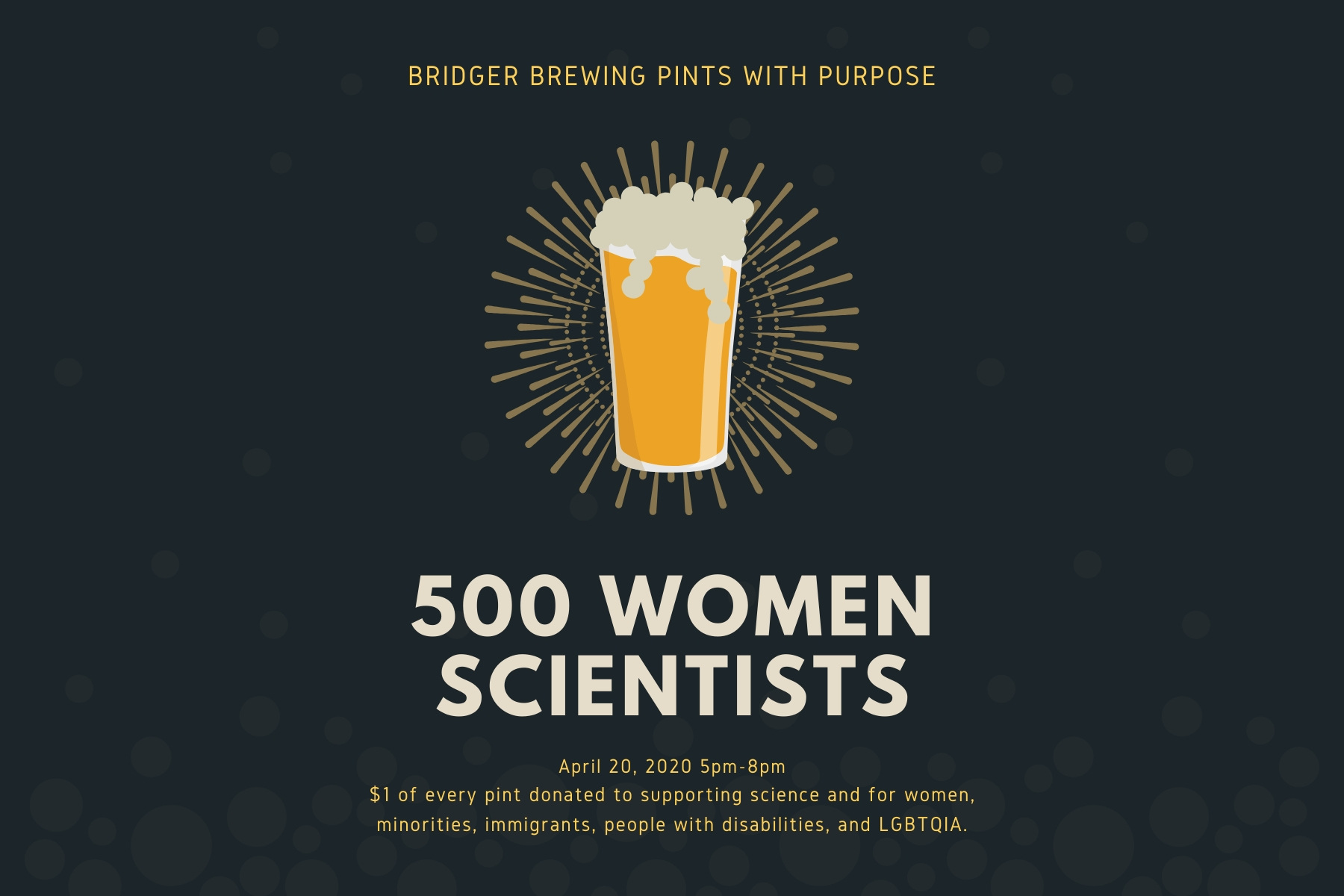 Pints with Purpose · 500 Women Scientists