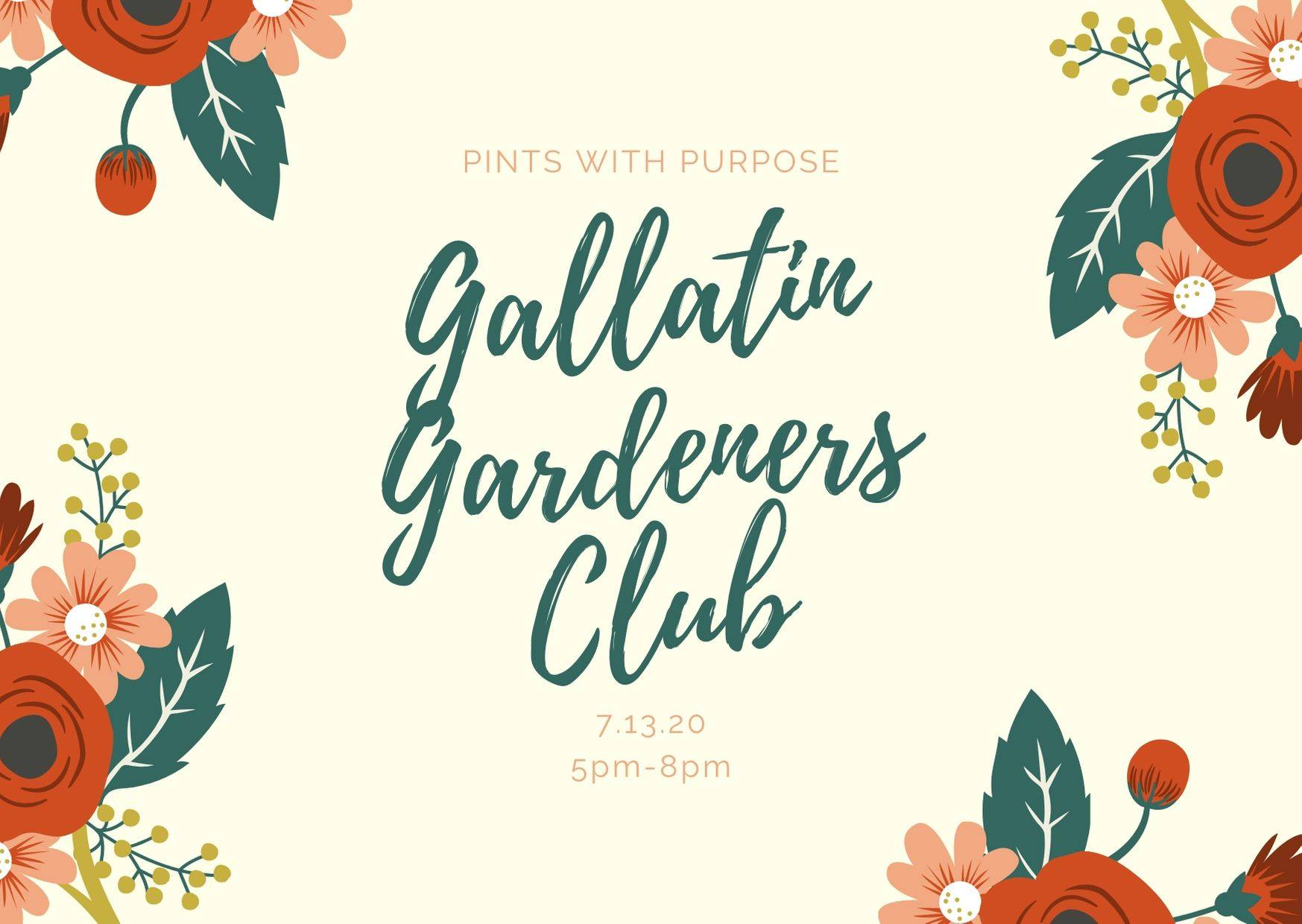 Pints with Purpose :: Gallatin Gardeners Club