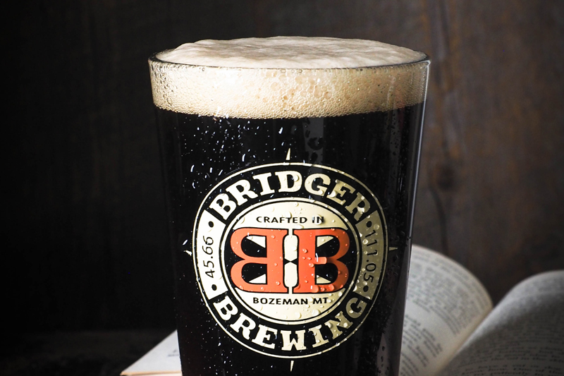Dark Bridger beer with old logo