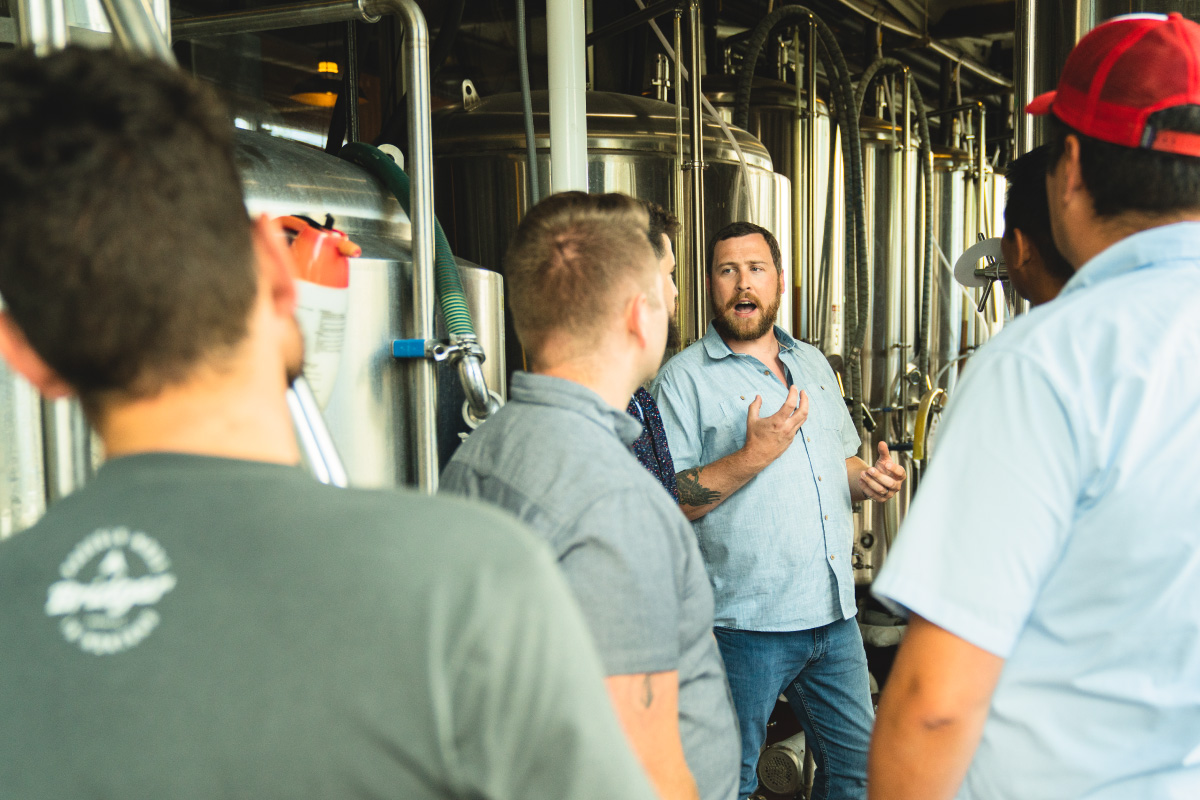 Brewmaster hosting a public brewery tour