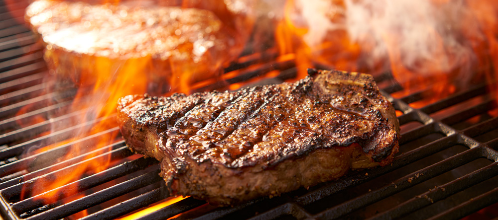Image of steak on the grill