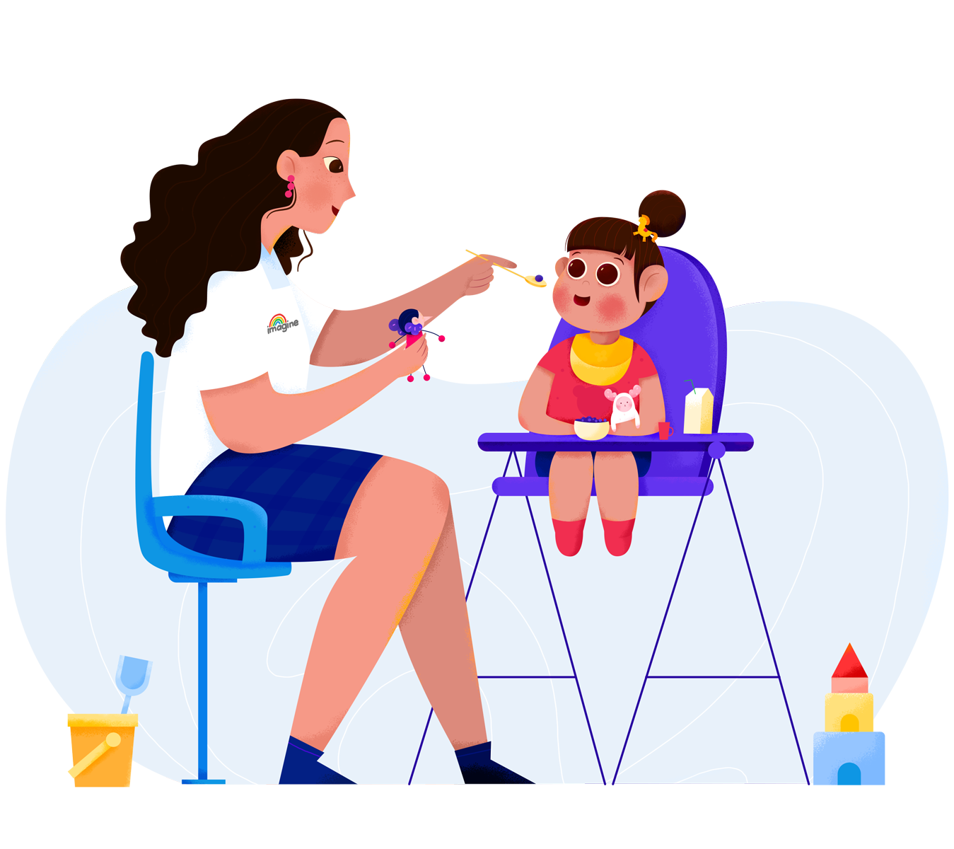 feeding therapy to a small child