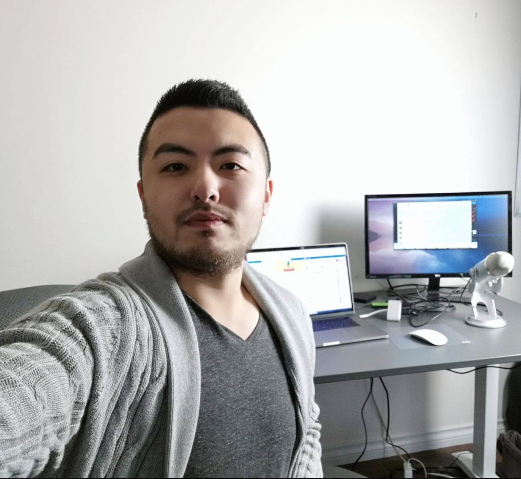 Sellfie image of Tom Wang in 2017