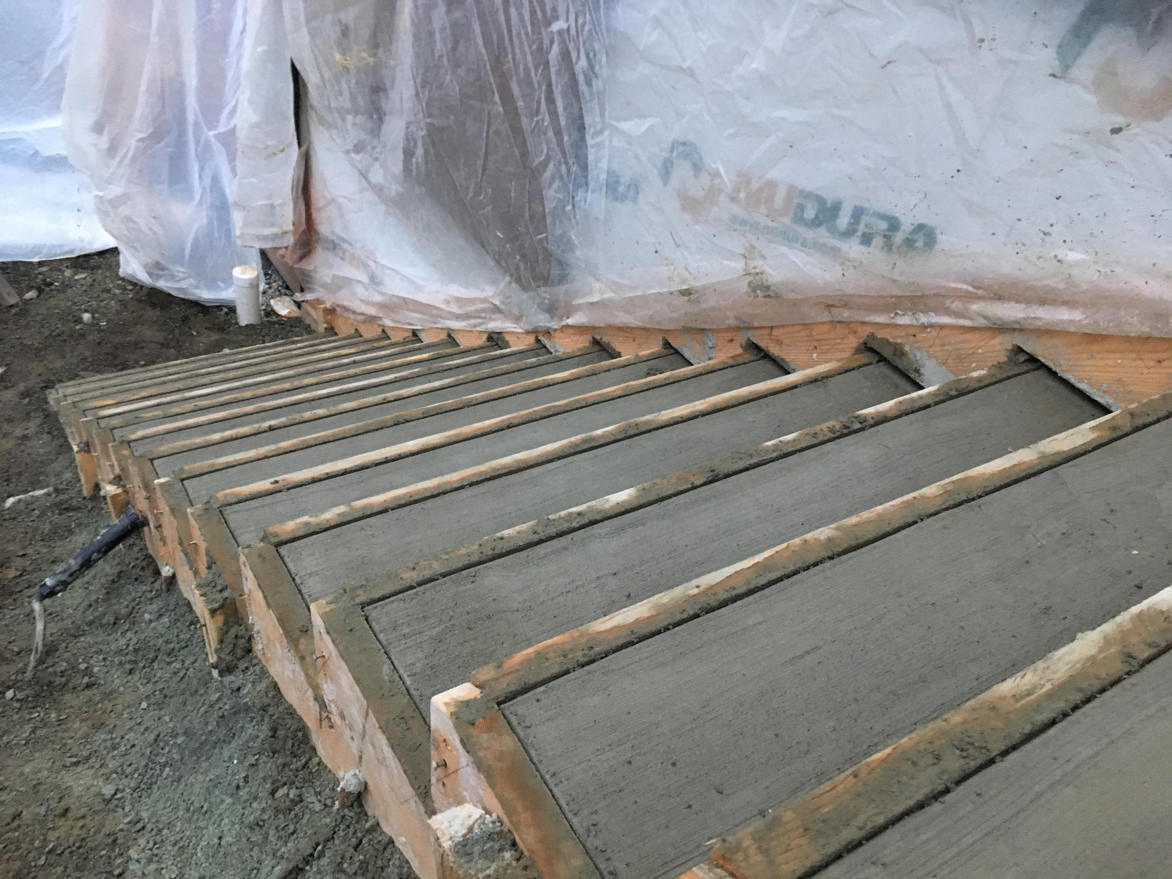 Pound 4 Pound, Framing and Forming. Concrete stairs fill