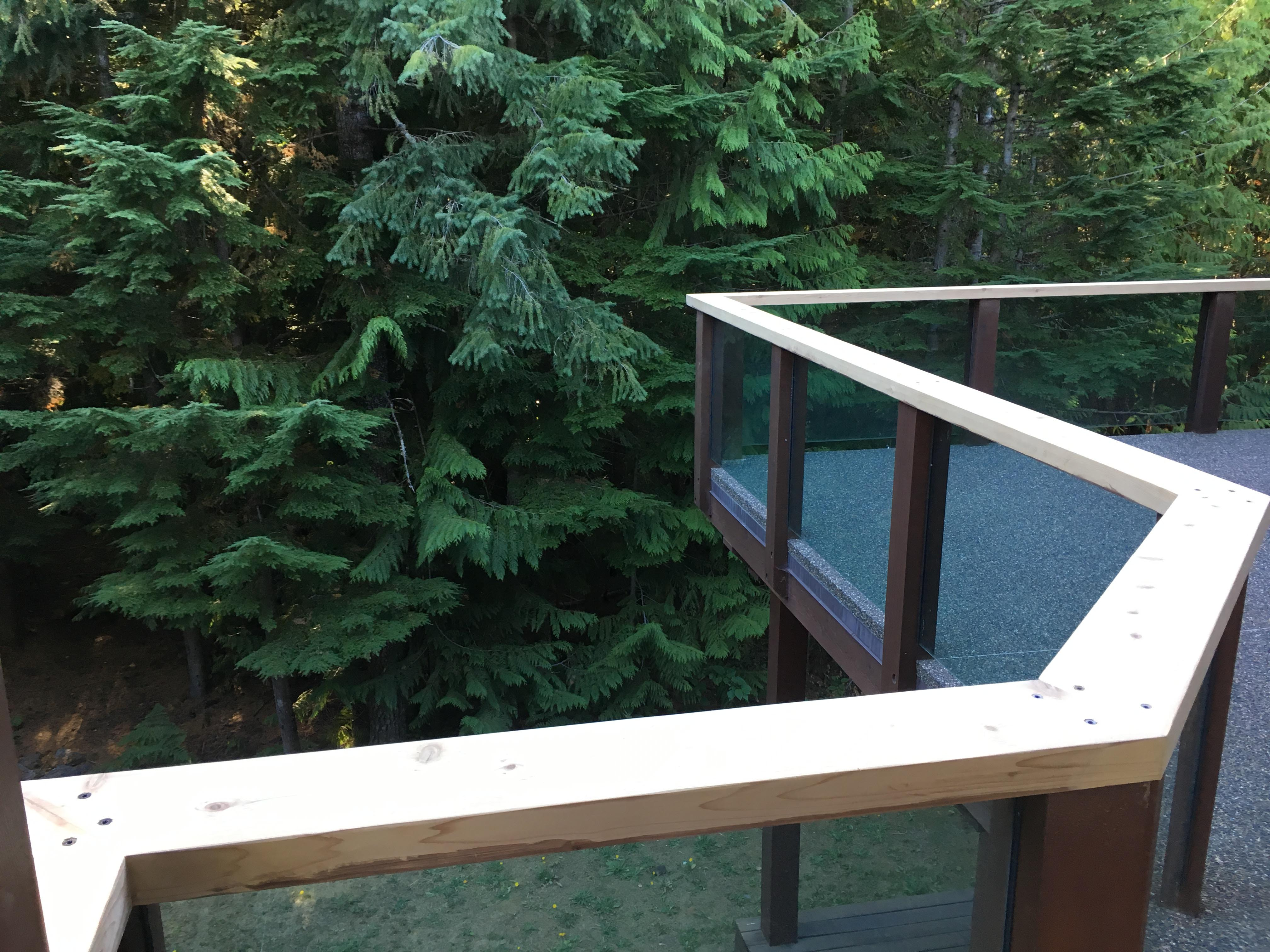 Pound 4 Pound, Framing and Forming. Exterior railing Whistler