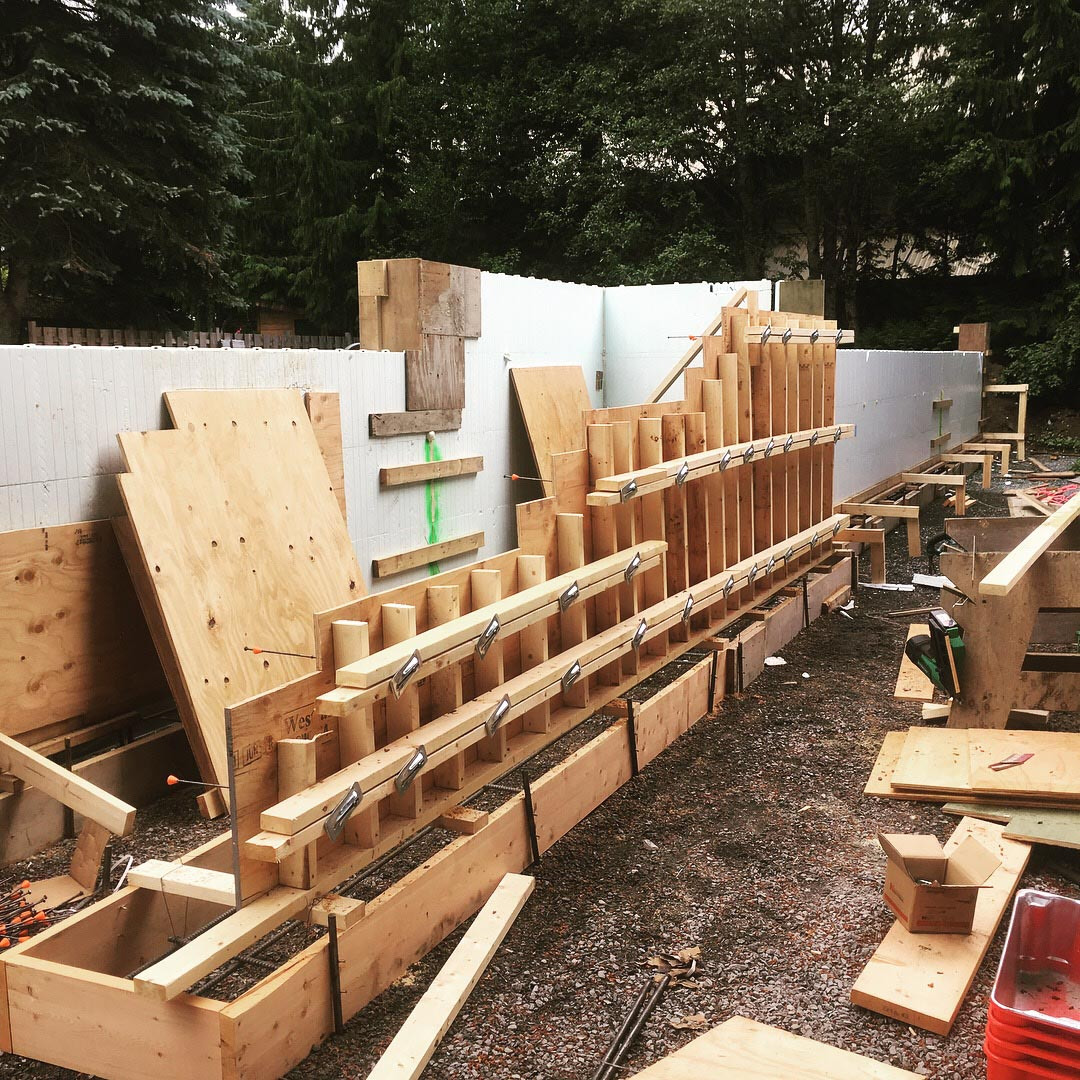 Pound 4 Pound, Framing and Forming. Forming wall