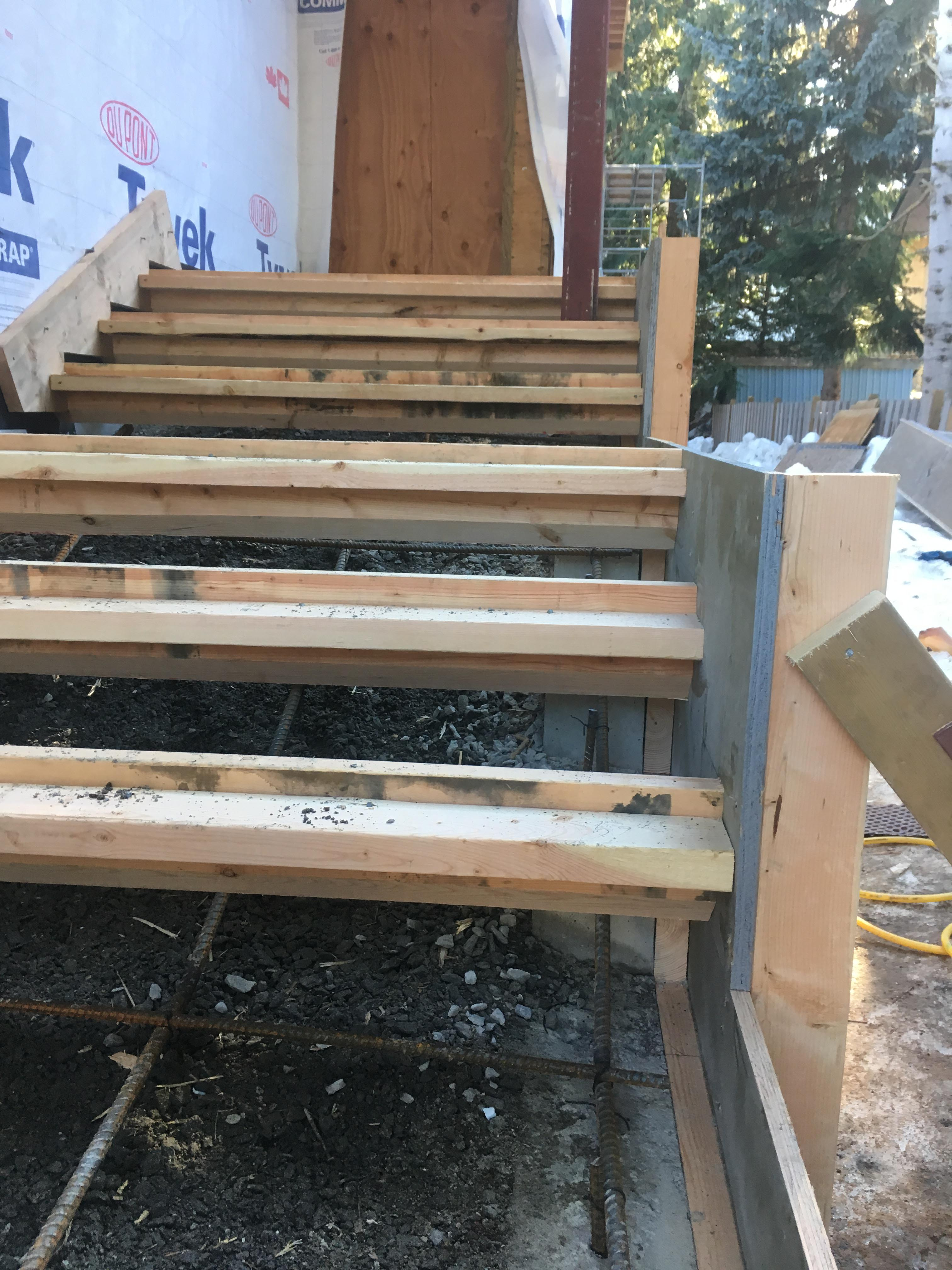 Pound 4 Pound, Framing and Forming. Side angle stairs Forming
