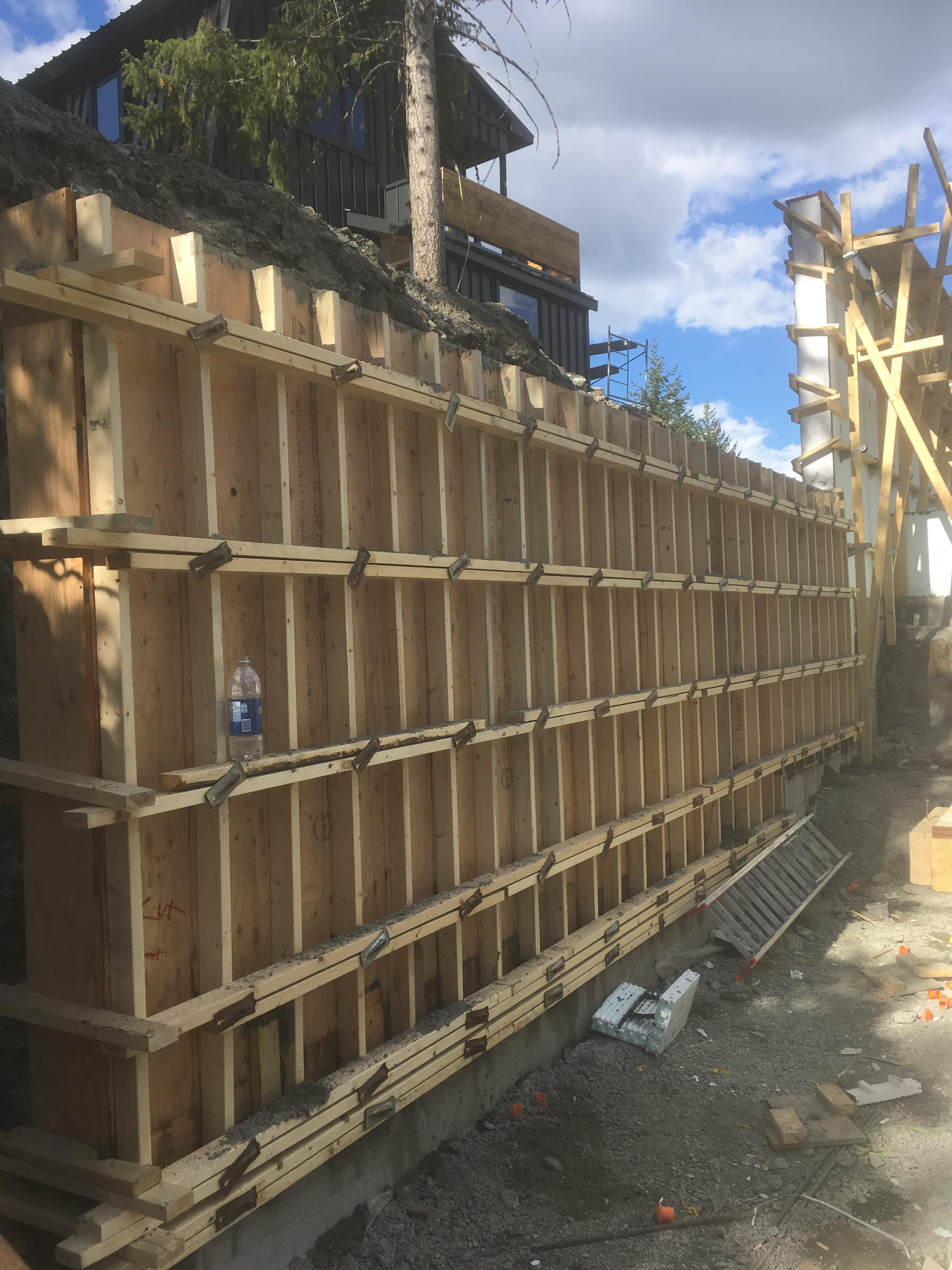 Pound 4 Pound, Framing and Forming. Wall forming