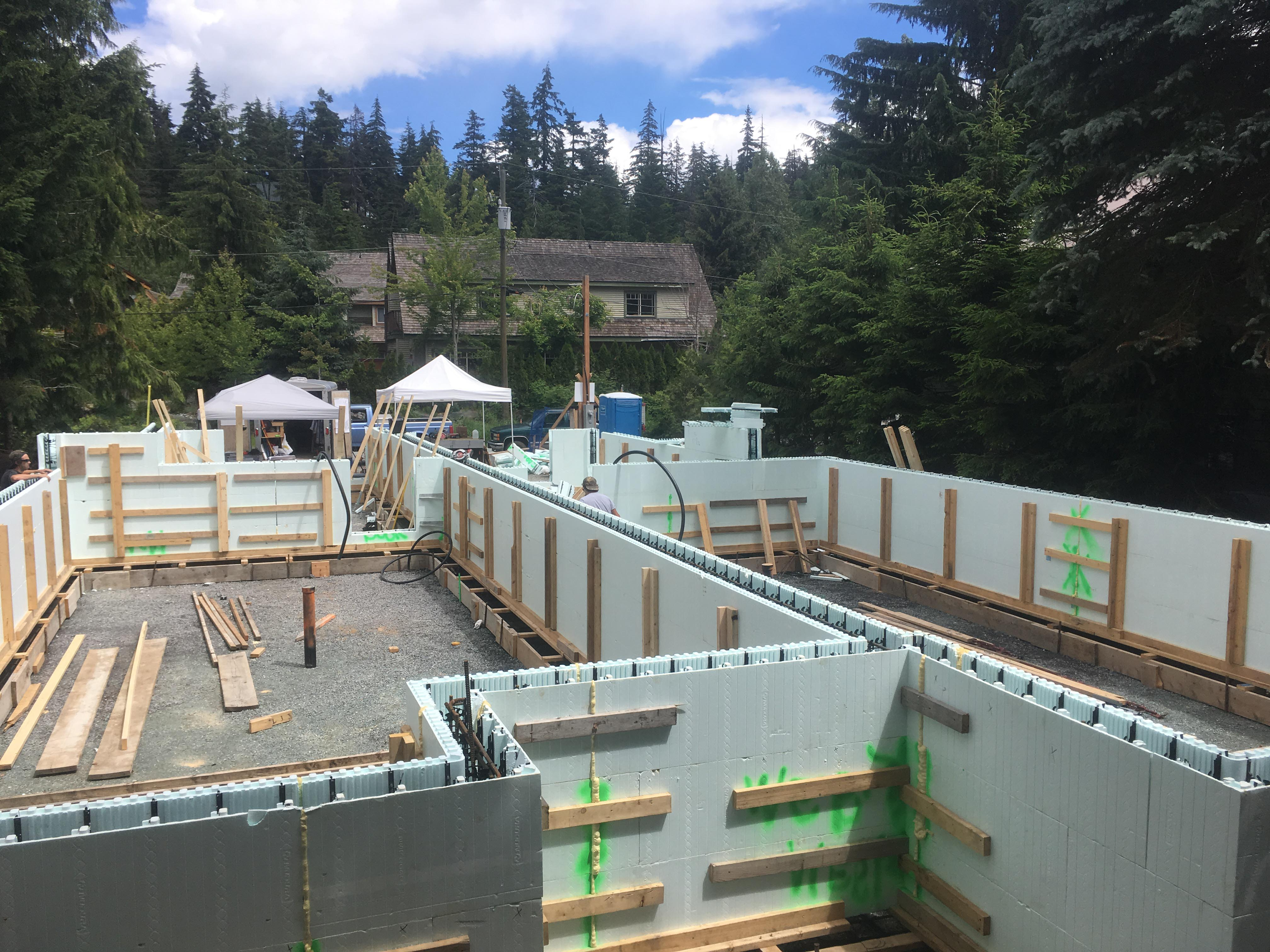 Pound 4 Pound, Framing and Forming. Large wall forming