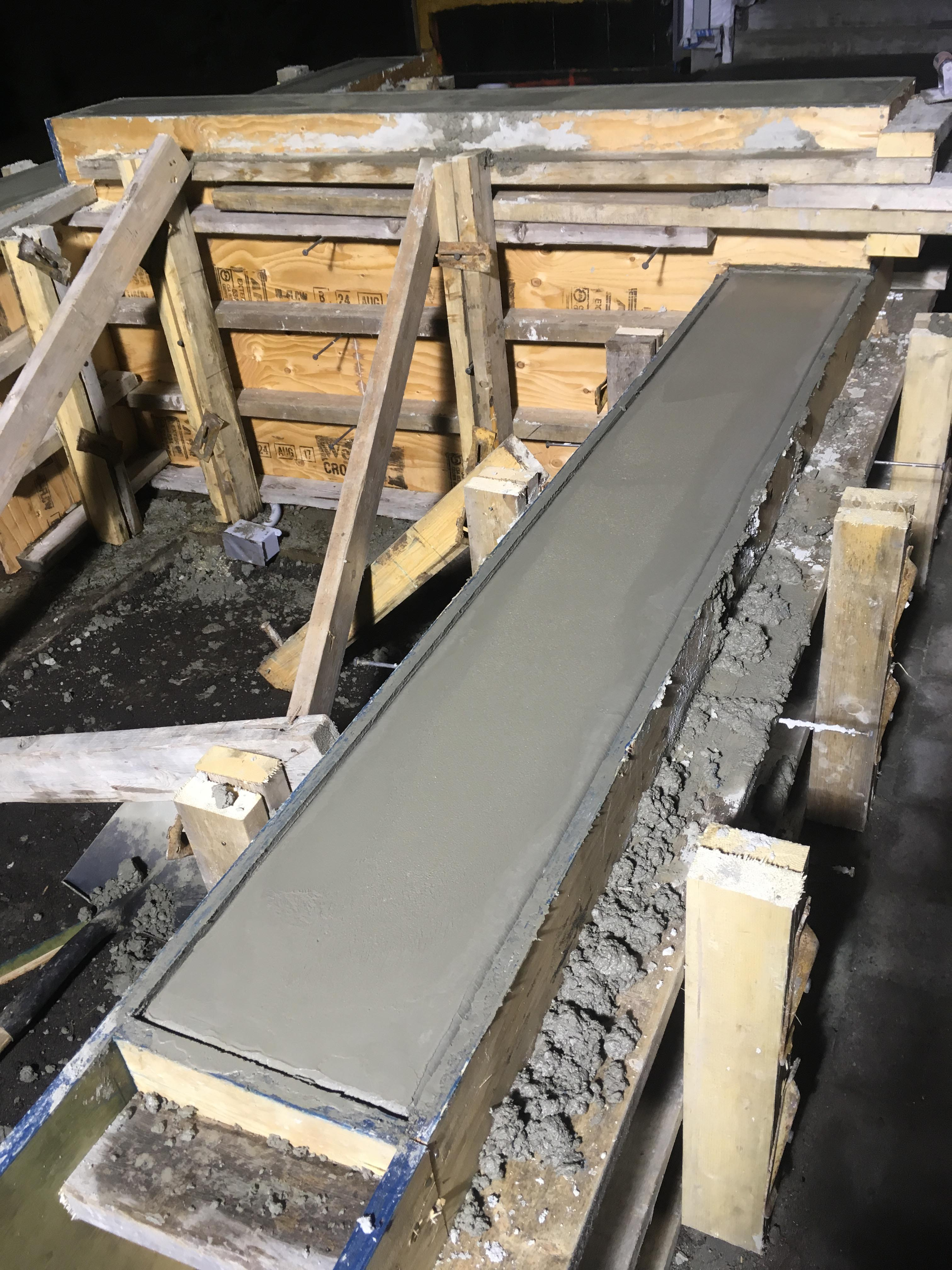 Pound 4 Pound, Framing and Forming. Concrete smoothing