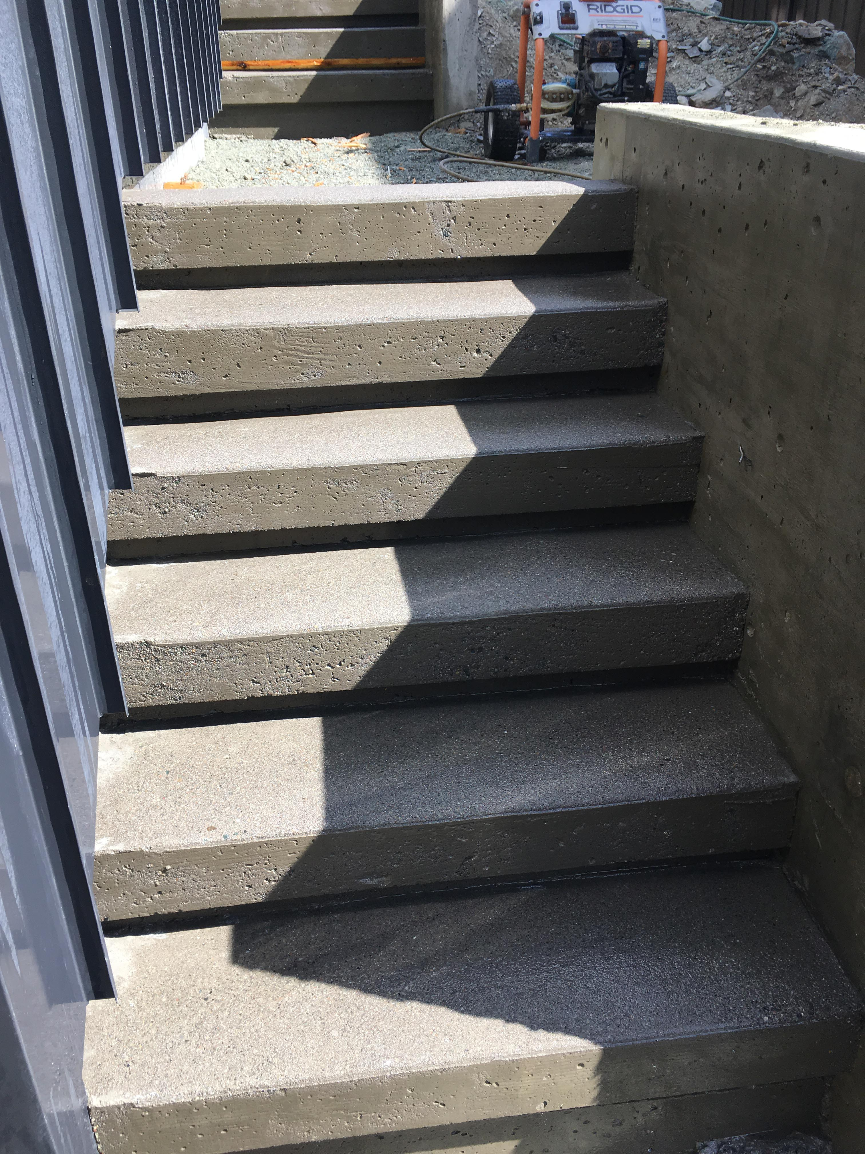 Pound 4 Pound, Framing and Forming. Finished concrete stairs