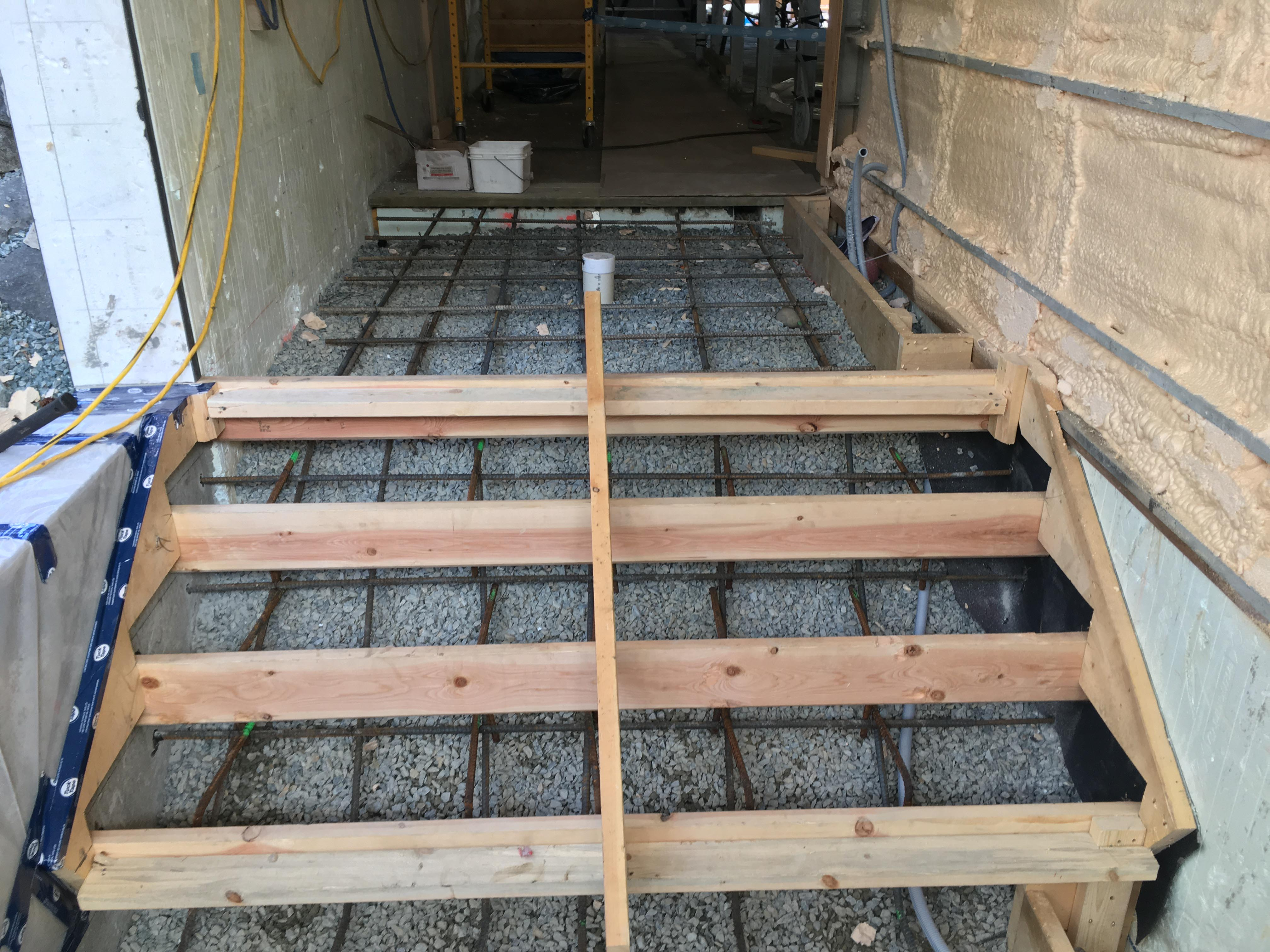 Pound 4 Pound, Framing and Forming. Small Stairs forming.