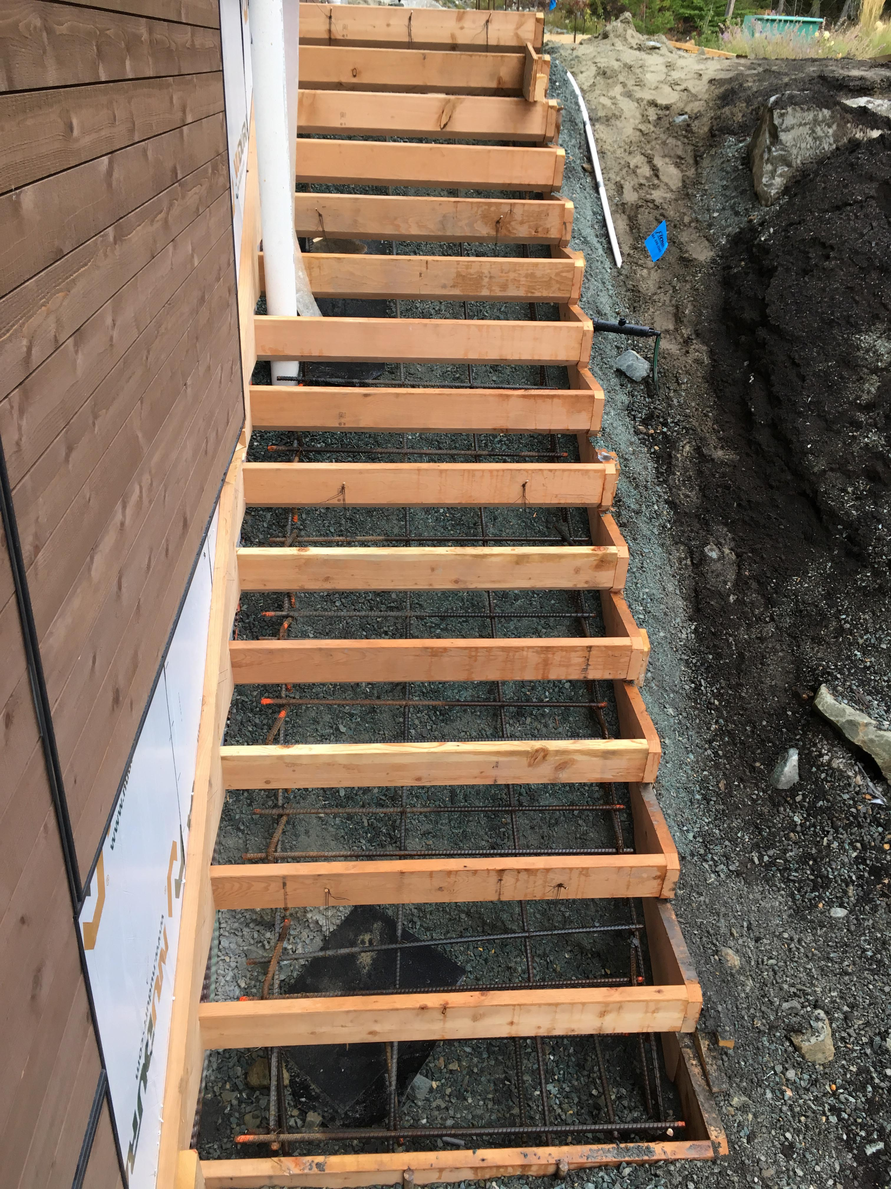 Pound 4 Pound, Framing and Forming. Forming Stairs