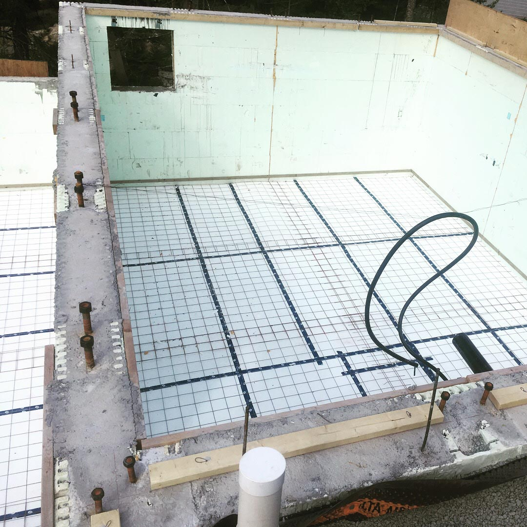 Pound 4 Pound, Framing and Forming. Concrete with wall