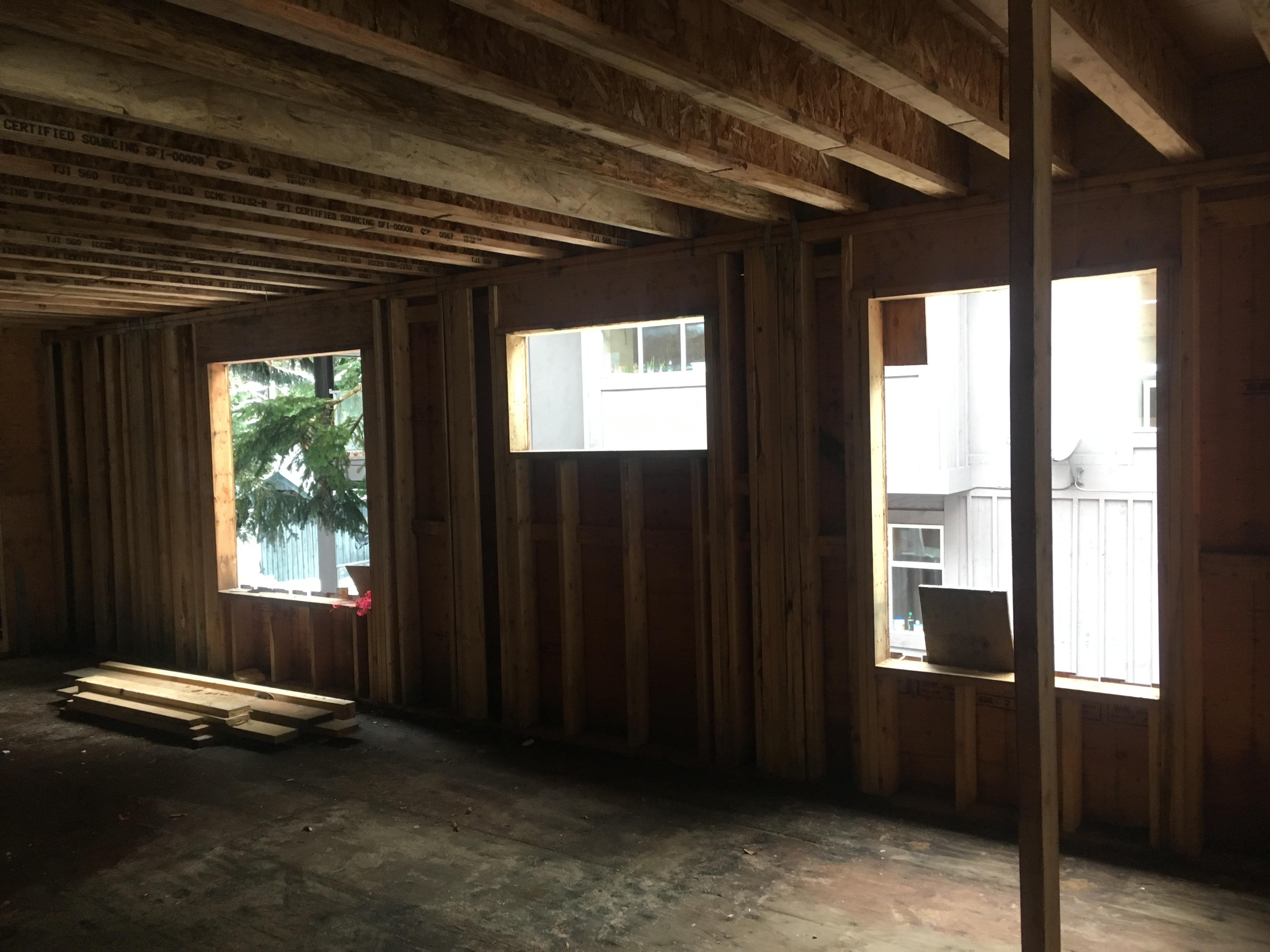 Pound 4 Pound, Framing and Forming, inside walls framing