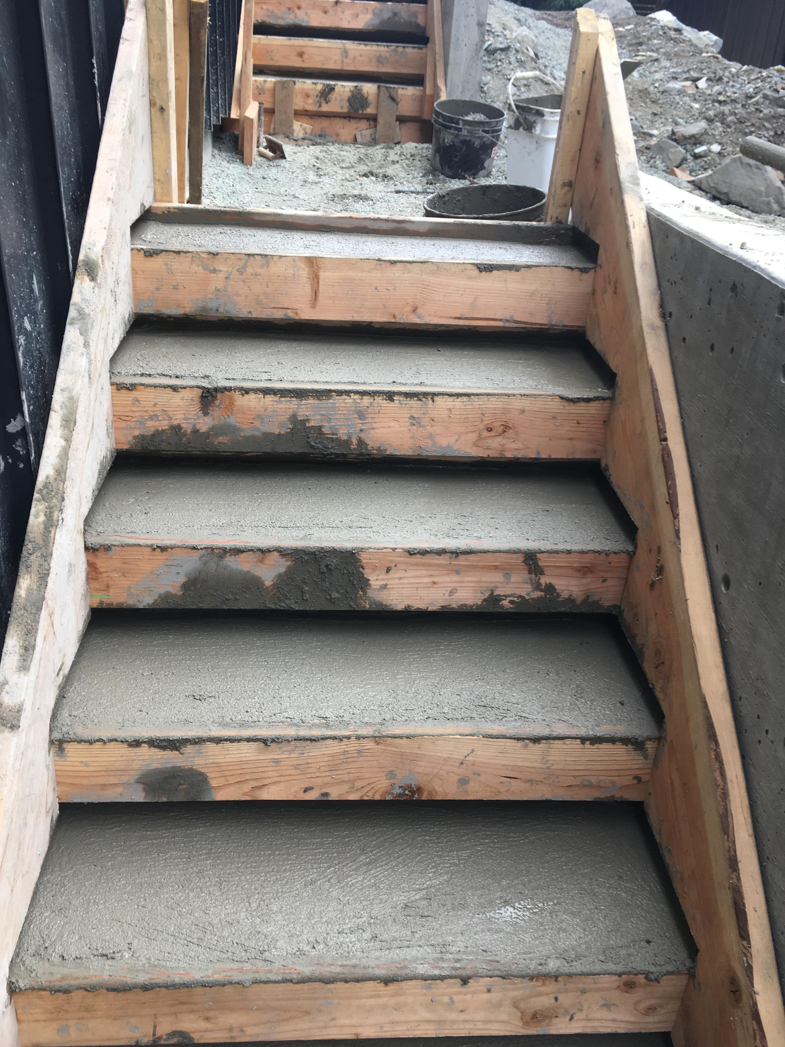 Pound 4 Pound, Framing and Forming. Concrete stairs, Whistler