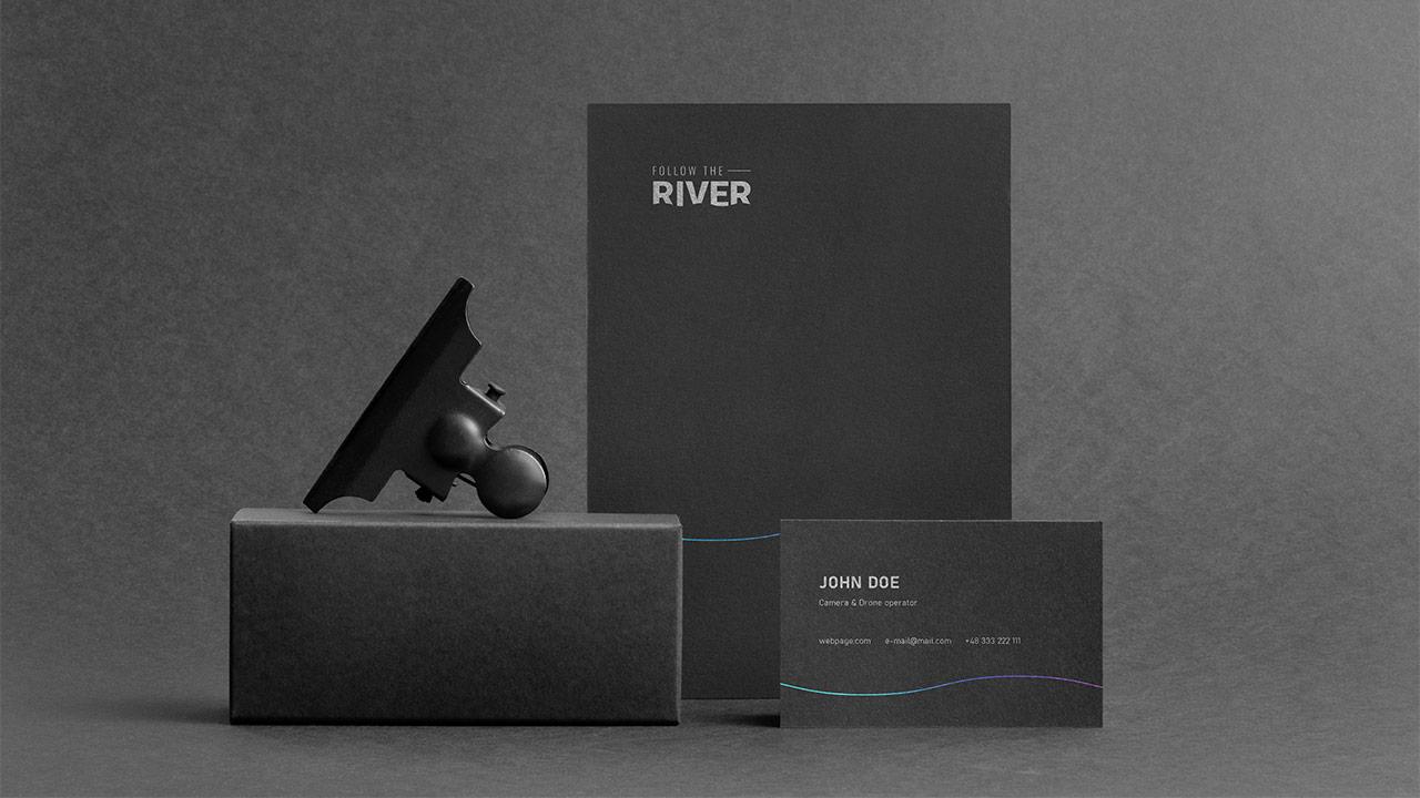 Follow the River - teczka i wizytówka
