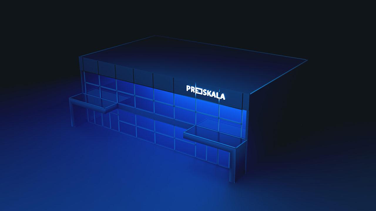Proskala - wizualizacja showroomu