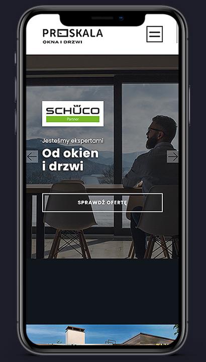 Proskala - strona mobilna scrn 1