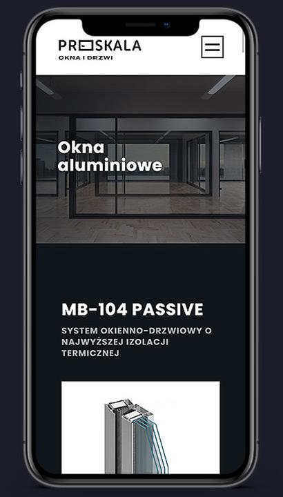 Proskala - strona mobilna scrn 2