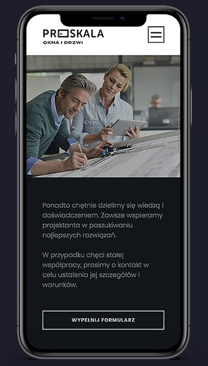 Proskala - strona mobilna scrn 4