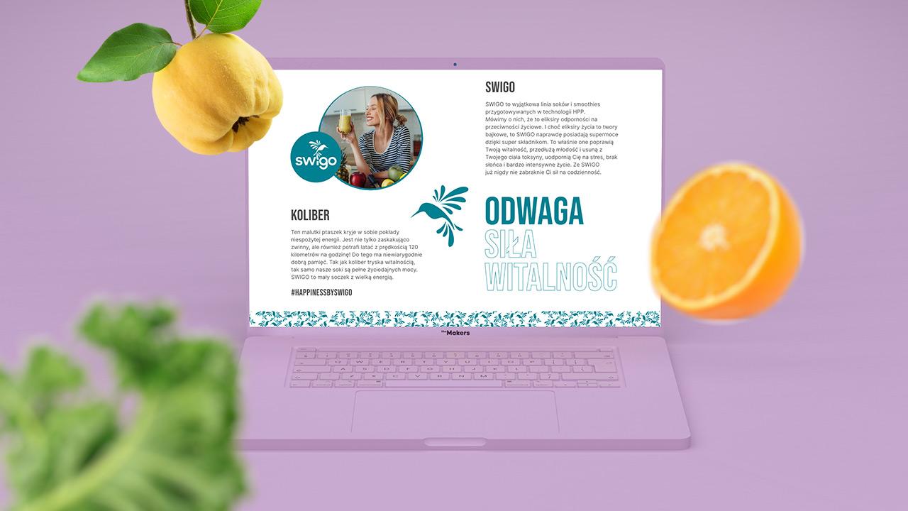 Swigo - projekt strony www