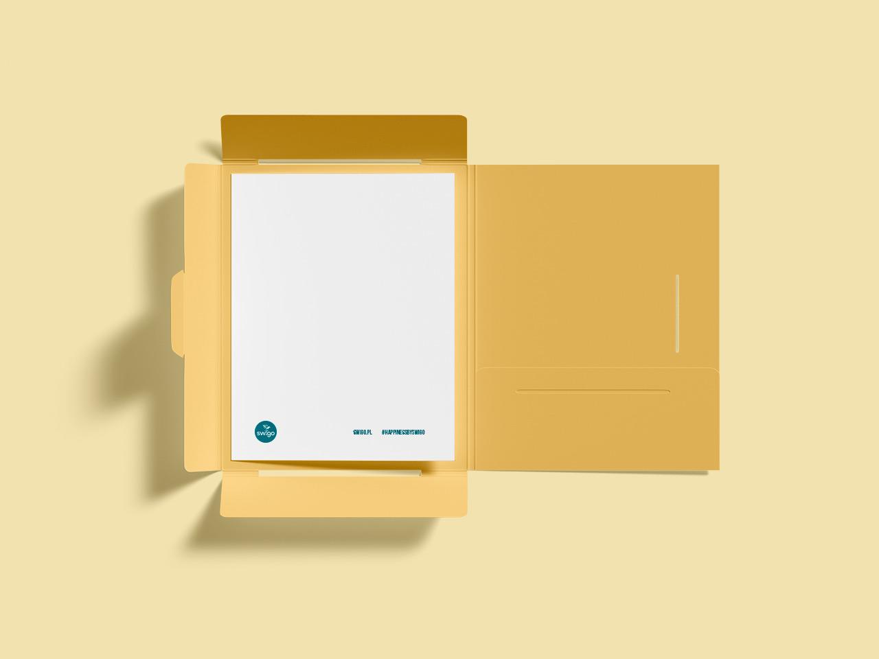 Swigo - przykład teczki firmowej