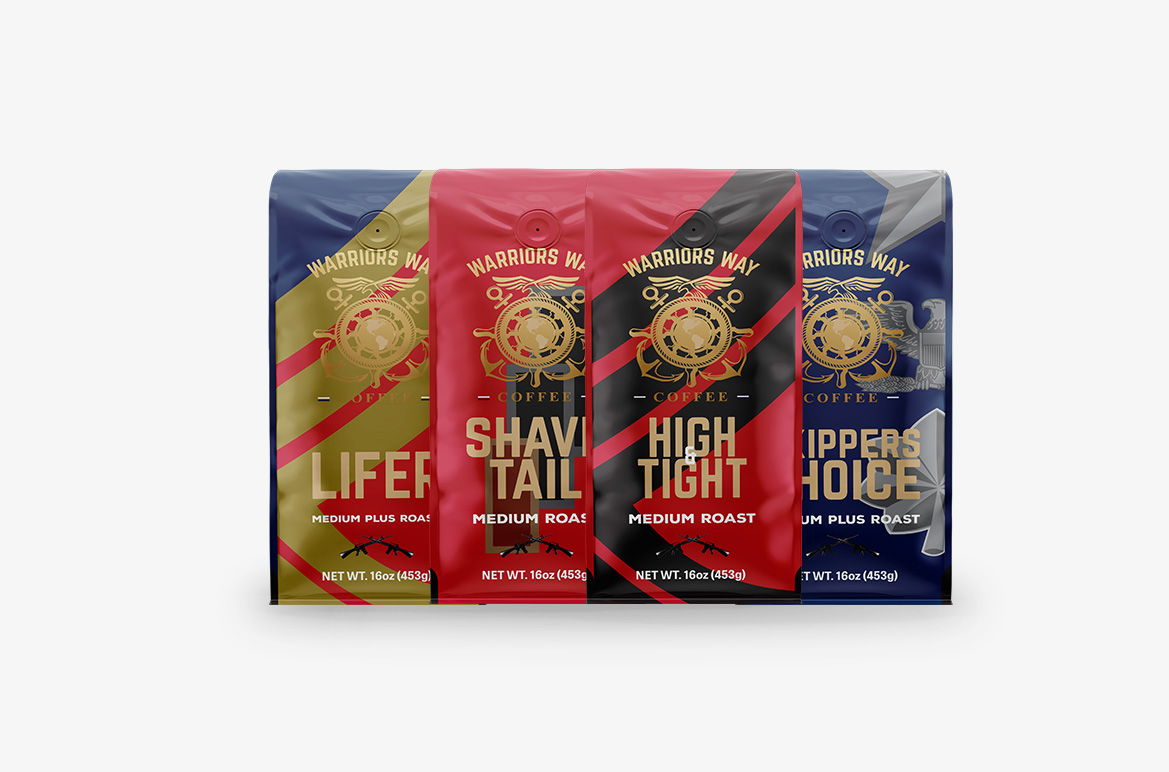Veteran Owned Business | Coffee bags design