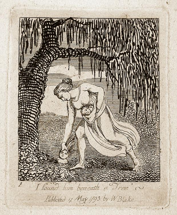 """I found him beneath a Tree"", William Blake (1793)"