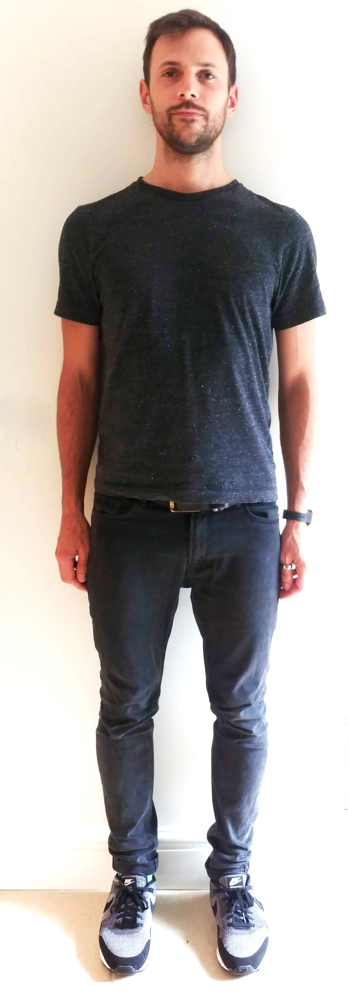 Better posture, front view of a natural standing position image