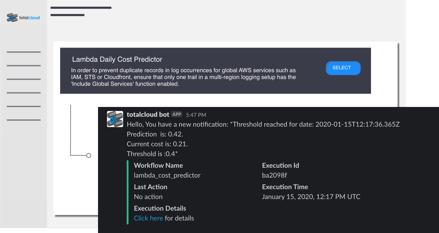 AWS Lambda Daily Cost Predictor