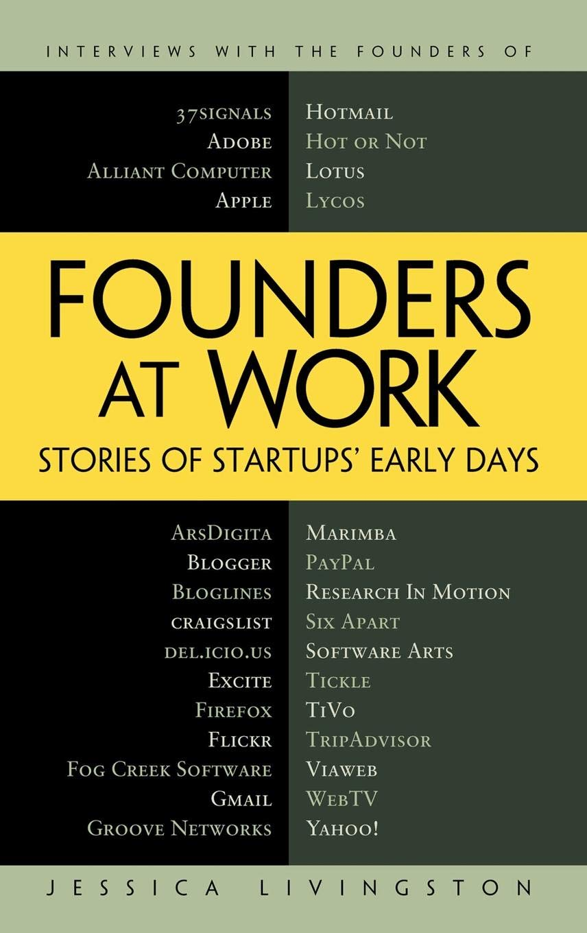 Book Cover of Founders at Work