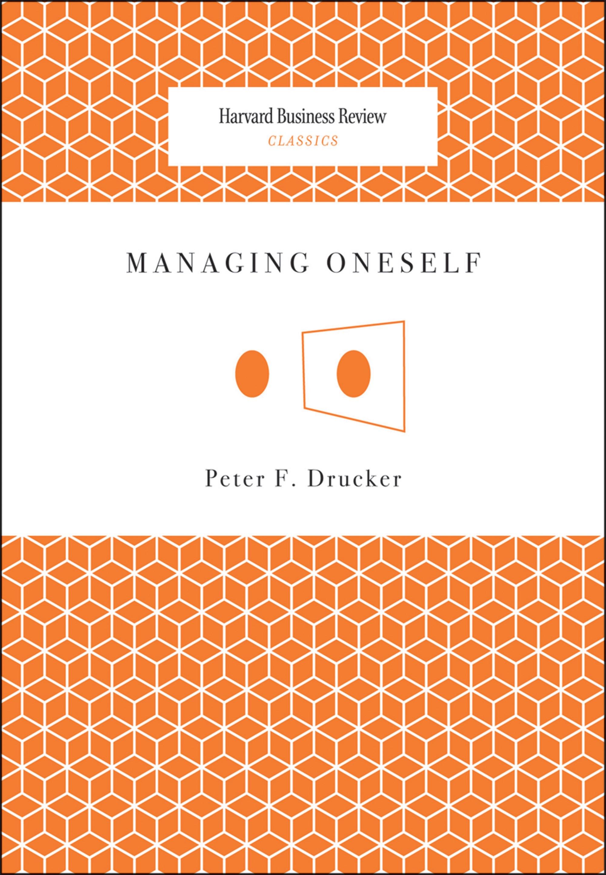 Book Cover of Managing Oneself