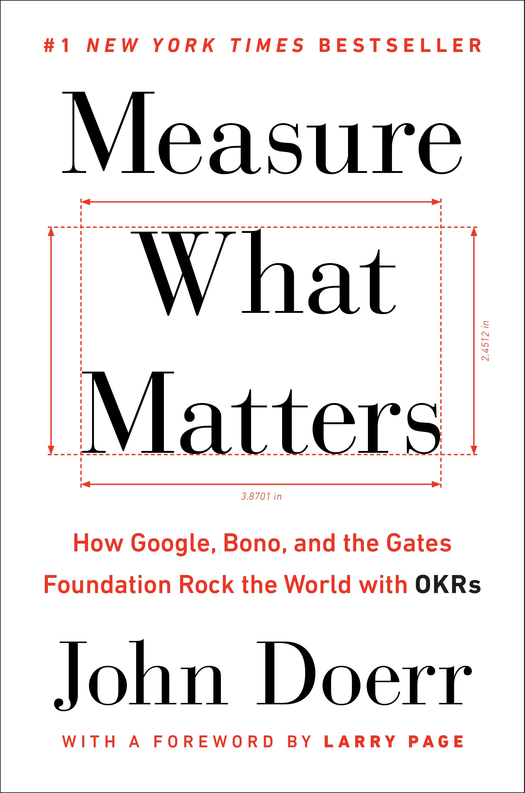 Book Cover of Measure What Matters