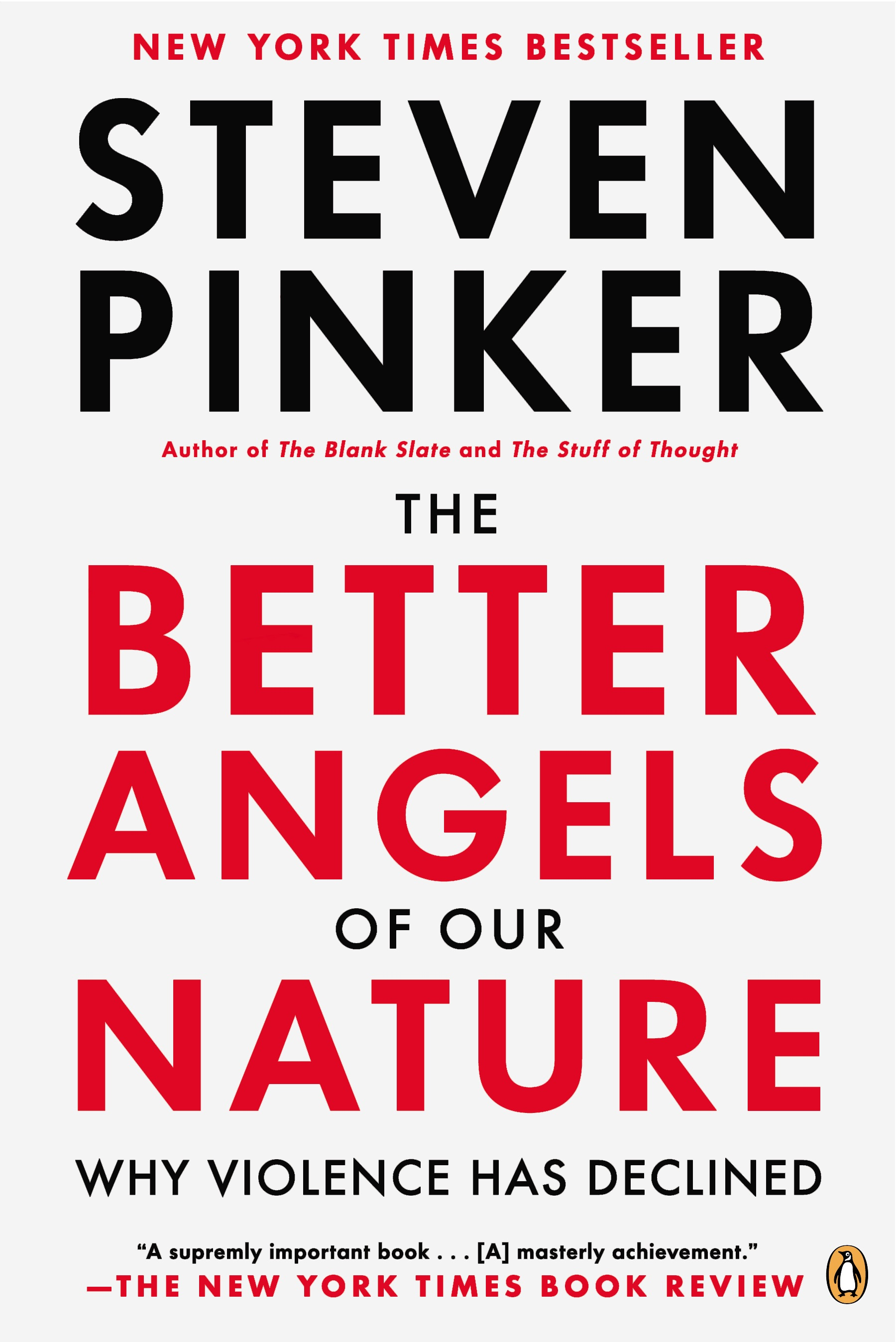 Book Cover of The Better Angels of Our Nature