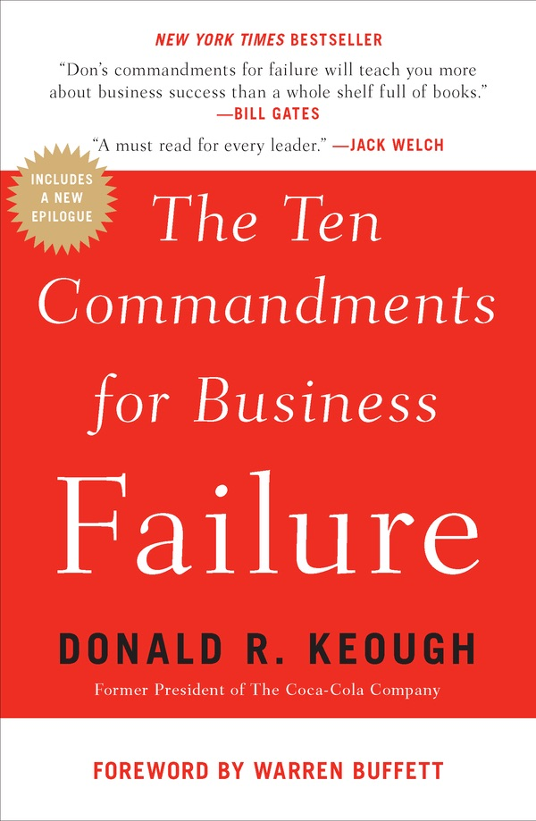 Book Cover of The Ten Commandments for Business Failure