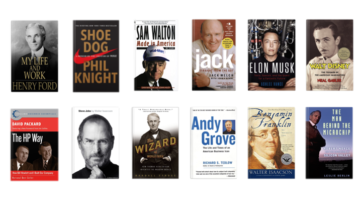 Biographies featuring successful founders