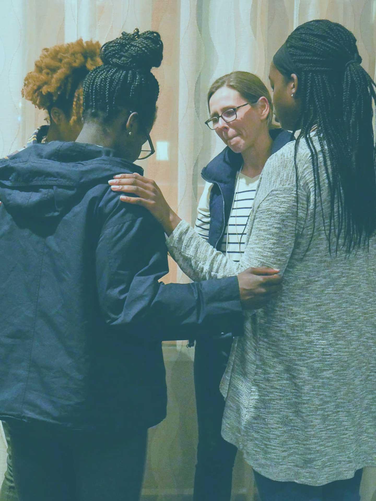 Group of ladies praying