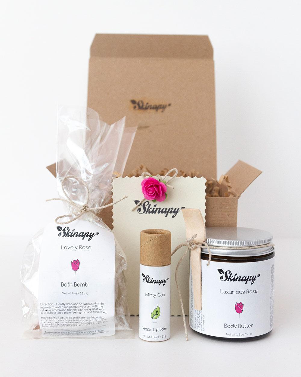 Natural & organic essential body bath gift set or gift box
