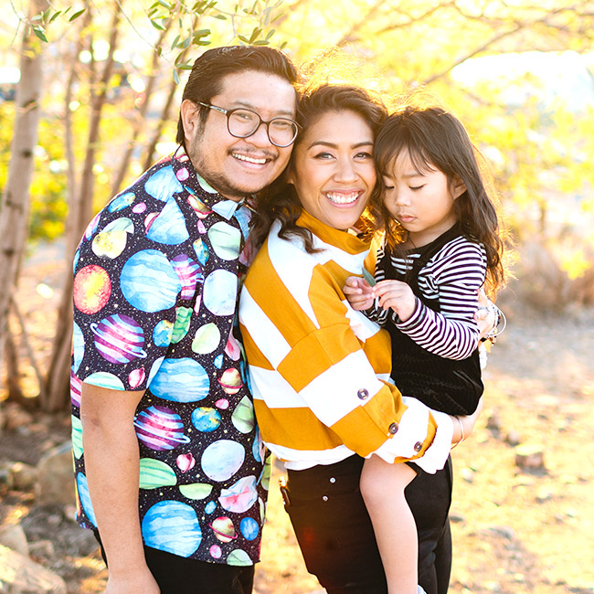Jessica, husband, and daughter