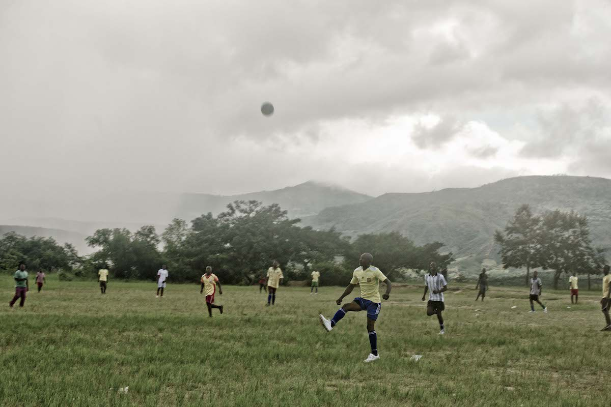 Football match, image by Steven Chikosi