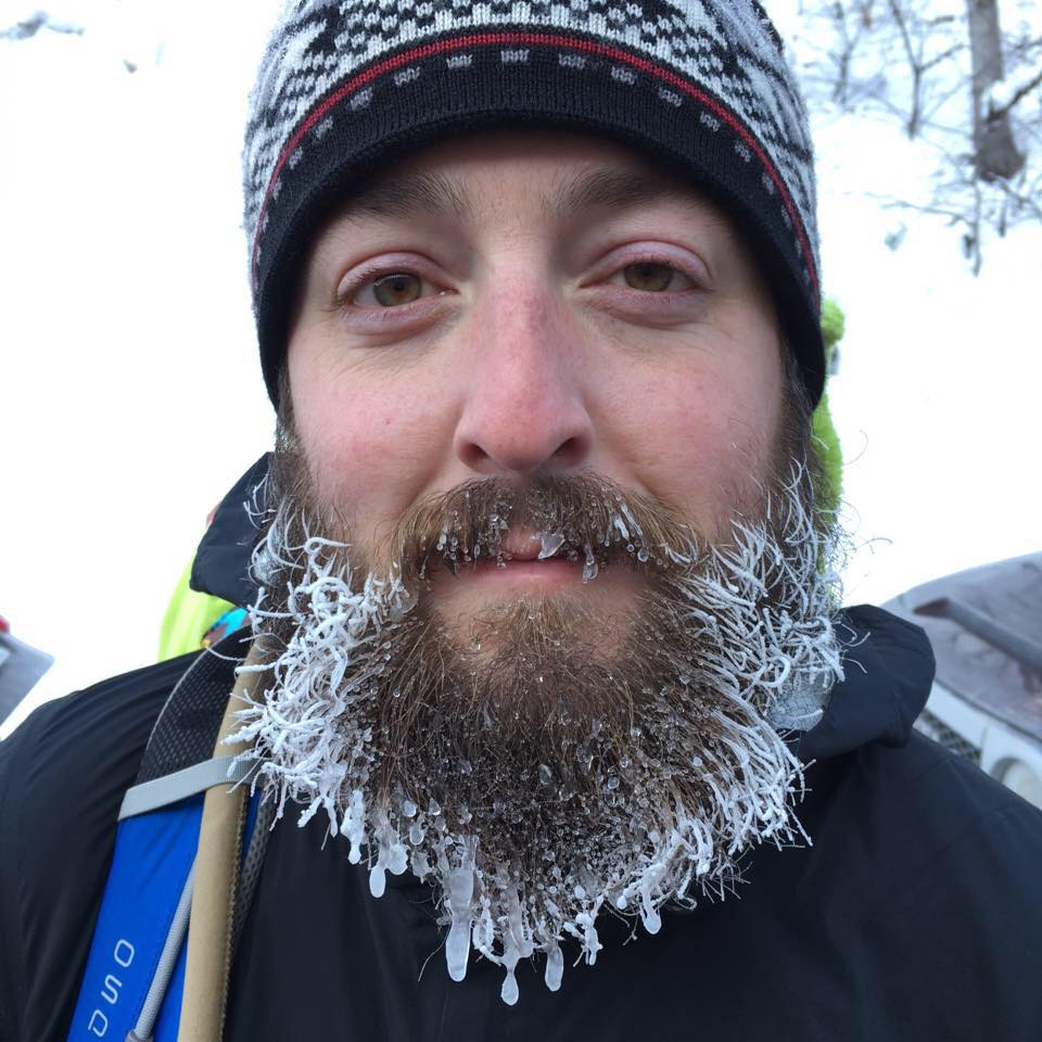 Nate with a frosty beard