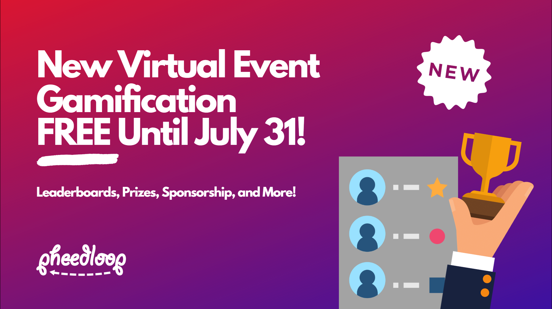 We've ported over our highly sought after gamification module to the virtual event portal, and it's better than ever. It combines leader boards, marketplaces and prize redemption, sponsorship, and lots of ways to create opportunities to engage attendees.