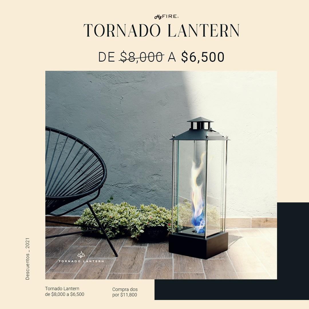 ! Disfruta tu terraza, con nuestra Tornado Lantern ¡ Aprovecha la promoción. #diseñemosconfuego