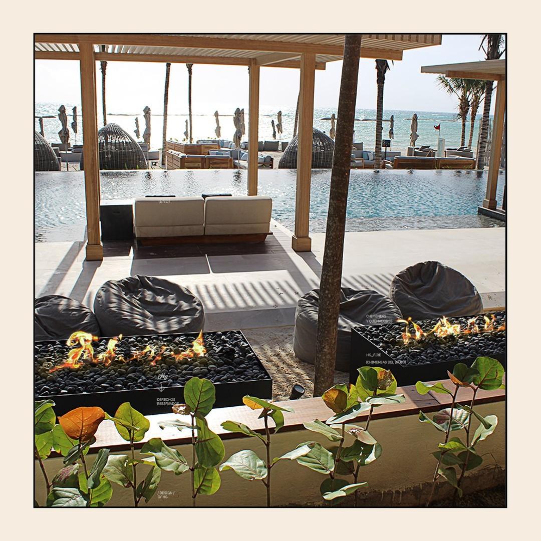 🌴🌊🔥Custom made for Sands Beach Club  #diseñamosconfuego #firesplits