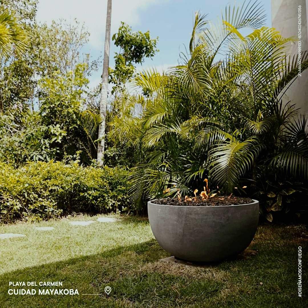 🔥 Nuestros Bowls en recinto volcánico son perfectos para tu jardín. Disponibles en etanol y gas.