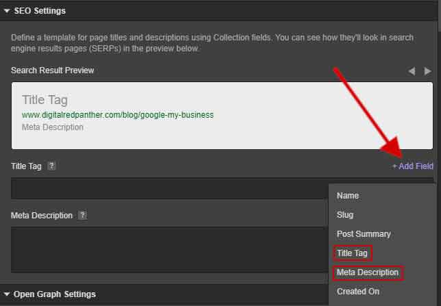 seo settings for blog posts