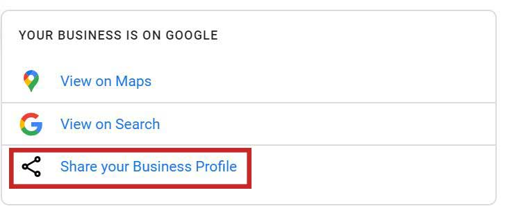 share your google my business profile